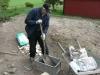Keijo mixar betong. 070511