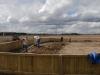 Vilket jobb med att bygga staket, fylla jord med mera.