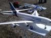 och en AirBus A380 kom förbi.