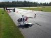 Lasse Palm hade även med sig denna helikopter, flög finfint och fort.
