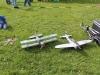 Enke hade med sig en heldel flygplan och helikoptrar.