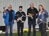 Klubbens Multirotornissar; Keijo, Johan, Dennis och Mona.