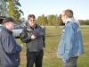 Daniel, Dennis och Jonas pratar varvtagningsystem.