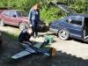 Dennis monterar ihop Keijos P51:a