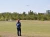 Mona leker runt med sin Tricopter.