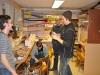 Fullfart i lokalen. Dennis, Kenny, Johan och Tim. 091130